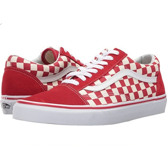 Vans Shoes   Old Skool Red And White